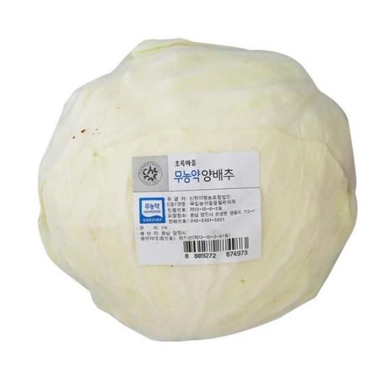 무농약이상_양배추 (1kg)
