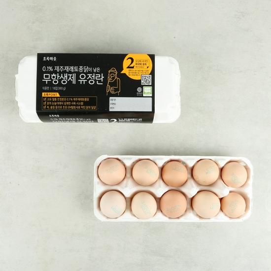0.1%제주재래토종닭이낳은무항생제유정란(10입)