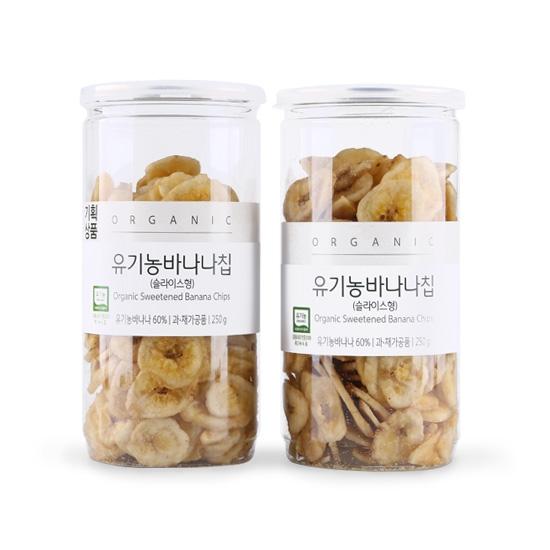 [기획]유기농바나나슬라이스칩(250g×2)
