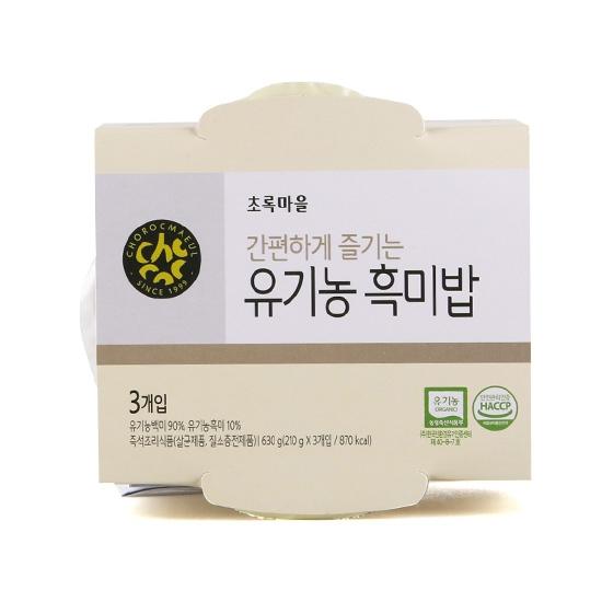 유기농흑미밥(번들/210g×3개입)