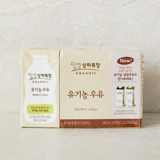 상하목장유기농우유(200mL×6)