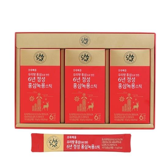 6년근정성홍삼녹용스틱(10g×30포)