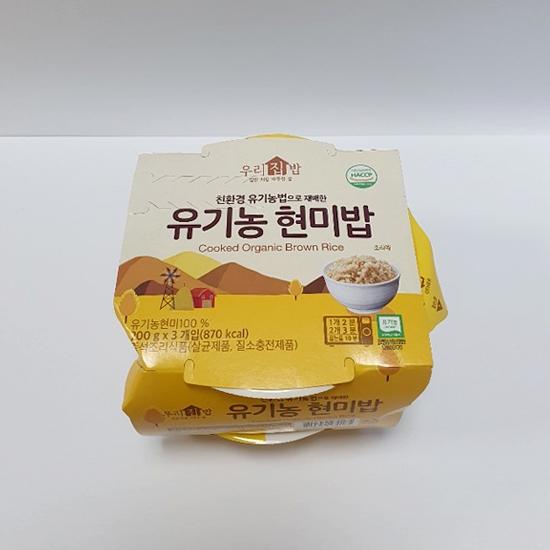 우리집밥 유기농현미밥(200g×3개입)