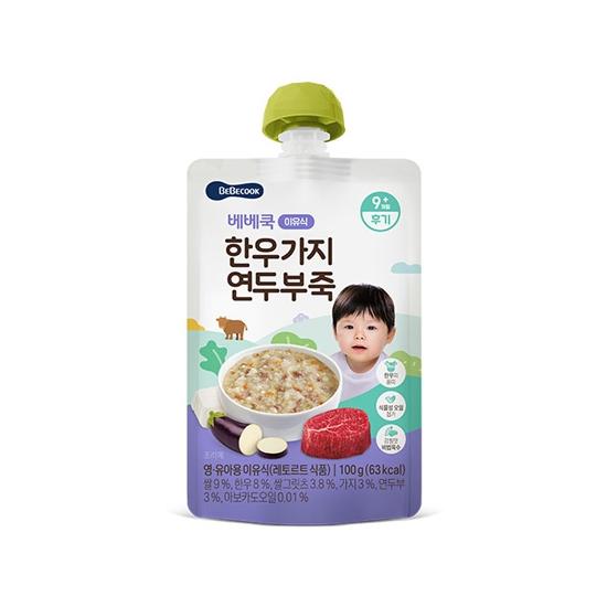 한우가지연두부죽(후기/100g)