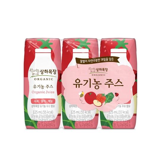 상하목장유기농주스딸기(125mL×3입)