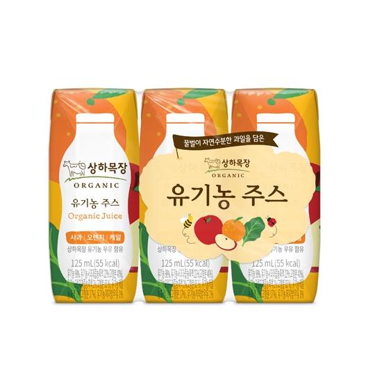 상하목장유기농주스오렌지(125mL×3입)