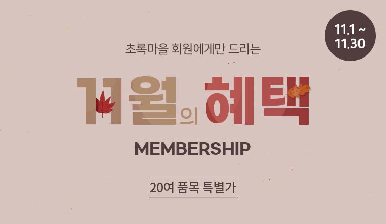 11월 멤버십 혜택